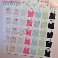 Shopping Bags Stickers! Perfect for your Erin Condren LifePlanner, FiloFax, Plum Planner, Scarpbook ~