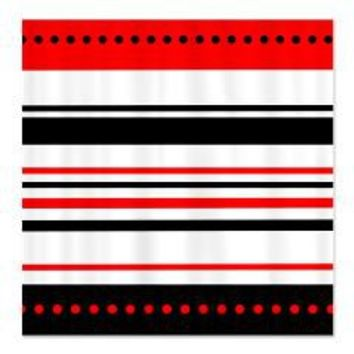 Black and Red Stripes Shower Curtain> Shower Curtains> We Tees You