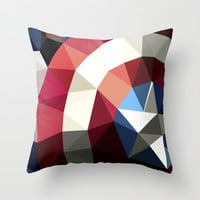 Polygon Heroes - Captain America Throw Pillow by PolygonHeroes