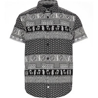 River Island Boys mono egyptian print shirt