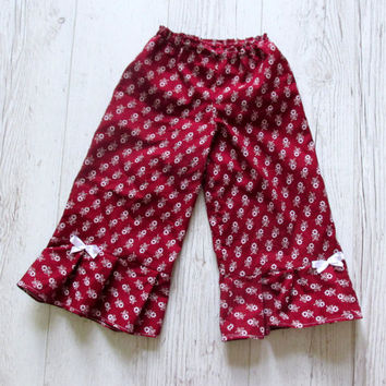 Girls capri pants, Girls ruffle pants, Baby Ruffle Pants, Girls Capri Pants, Toddler Ruffle Pants, Girls School Clothes, Toddler outfit