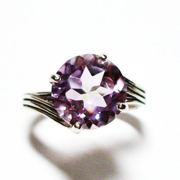 "Amethyst ring, amethyst, cocktail ring, purple ring, purple, purple jewelry,   s7 -  ""Rose De France"""