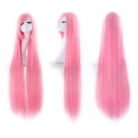 "MapofBeauty 40"" 100cm Anime Costume Long Straight Cosplay Wig Party Wig (Light Pink)"