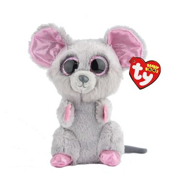 "Ty Beanie Boos Stuffed & Plush Animals Little Mouse Toy Doll With Tag 6"" 15cm"