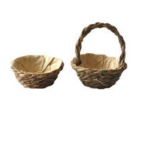 Two Woven All-Purpose Baskets @ miniatures.com