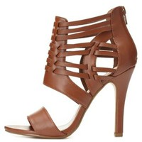 Huarache Caged Strappy Heels by Charlotte Russe