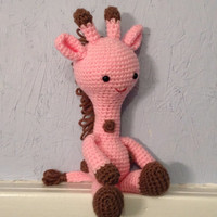 Giraffe - Stuffed Animal - Amigurumi - crocheted toy