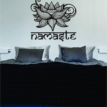 Namaste Lotus Flower Version 2 Design Sports Decal Sticker Wall Vinyl Decor Art OM
