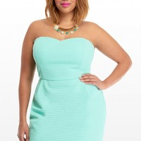 Plus Size Liz Strapless Textured Dress | Fashion To Figure