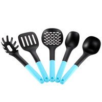 Blue High Quality Nylon PP Kitchen Utensil Set (5 pcs)