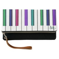 Colorful Piano Monogram Music Purse Bag Clutch