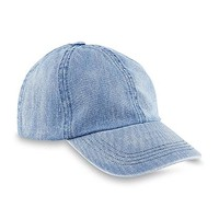 Joe Boxer Women's Distressed Denim Baseball Hat