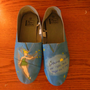 Peter Pan Tinkerbell Painted Canvas Shoes by SecondStarToDisney