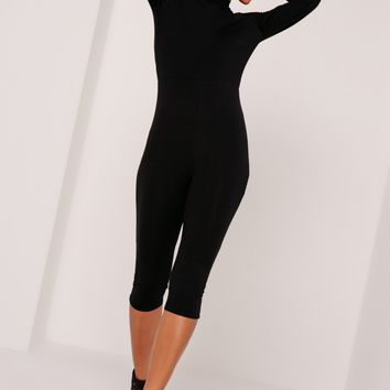 Missguided - Jersey Grown On Neck Jumpsuit Black