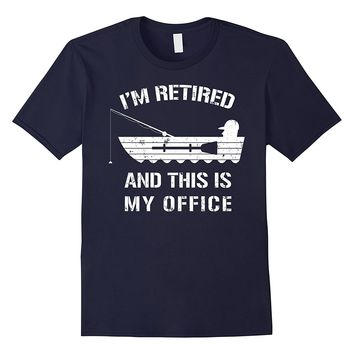 Mens Funny Retired Shirt: Fishing Retirement Gift T-Shirt
