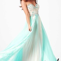 Sweetheart A-line Chiffon Rhinestone and Pleats Prom Dress Style PMGA273,2014 Prom Dresses