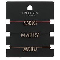 Snog Marry Avoid Bracelets - Jewellery - Accessories - Topshop