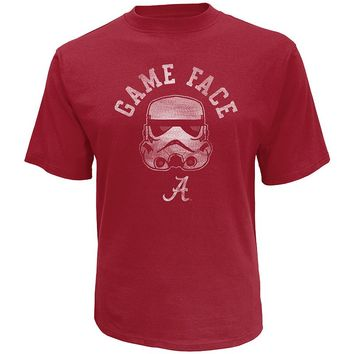 Star Wars College Alabama Crimson Tide Stormtrooper Game Face Tee
