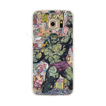 The Incredible Hulk Phone Back Cover Case for Samsung Galaxy S3 S4 S5 Mini S6 S7 Edge   Sky Blue