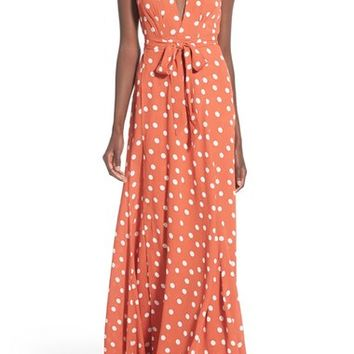 Tularosa 'Sid' Polka Dot Wrap Maxi Dress | Nordstrom
