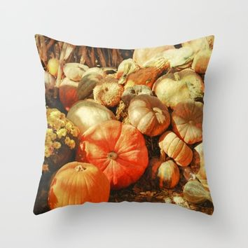 Autumn Collection Throw Pillow by Theresa Campbell D'August Art