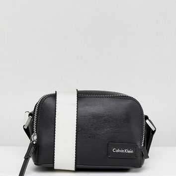 Calvin Klein Crossbody Bag with Webbing Strap at asos.com