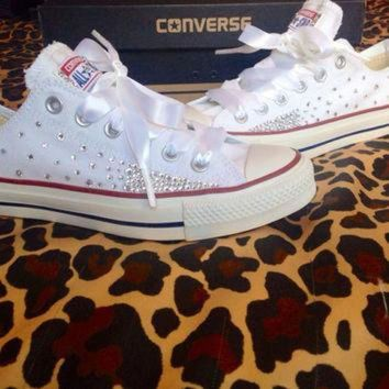 DCKL9 Ombr¨¦ Effect Rhinestone Converse with Ribbon Laces