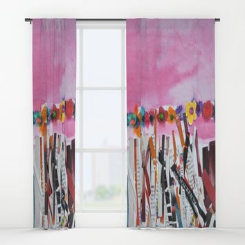 FLOWERS STiLL GROW Window Curtains by Azima