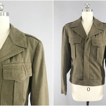 Vintage 1940s WW2 IKE Jacket / 1940's Military Coat / Original WW2 Vintage / Size XS / WW2 Ike Jacket / Eisenhower Jacket / Wac / Waaf