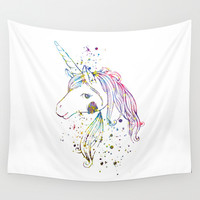 Unicorn  Wall Tapestry by Bitter Moon