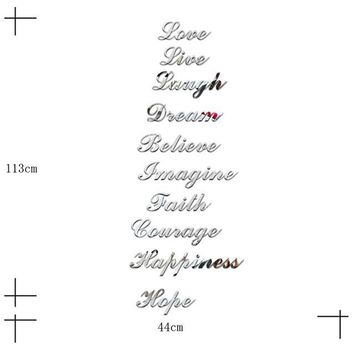 Stairs Word Art Love Live Laugh Dream Mirror Wall Stickers