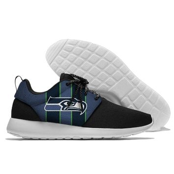 Lace Up Sport Shoes confortable Seahawks Jogging Walking Athletic Shoes light weight Seattle fans style