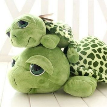 New arriving 20cm Army Green Big Eyes Turtle Plush Toy Turtle Doll Turtle Kids As Birthday Christmas Gift Free