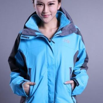 The North Face The latest womens three-in-one blue