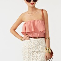 Ruffled Crochet Dress in Clothes Dresses at Nasty Gal