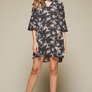 Falling for Florals, choker style dress