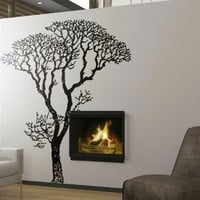 """Stickerbrand© Nature Vinyl Wall Art Bare Autumn Tree Branches Wall Decal Sticker - Black, 72"""" x 58"""". Easy to Apply & Removable. Includes FREE Application Squeegee"""