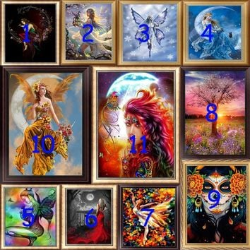 30* 40cm DIY Craft 5D  Beauty Girl Pattern 5D Diamond Embroidery Painting Rhinestone Cross Stitch Mosaic Embroidery  Home Living