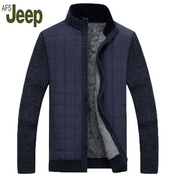 2016 autumn and winter fashion latest AFS JEEP / Battlefield Jeep men's casual sweater men cashmere cardigan jacket 160