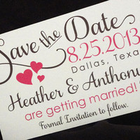 Save the Date postcard - elegant and pretty - Save the Date Cards