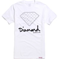 Diamond Supply Co Vintage Paris T-Shirt - Mens Tee - White