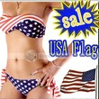 Benana ON SALE swimsuit swimwear Women Sexy bikini STARS STRIPES USA Flag PADDED TWISTED BANDEAU swim suit tube swim wear #8002 - DinoDirect.com