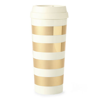 kate spade thermal mug - Gold Stripe