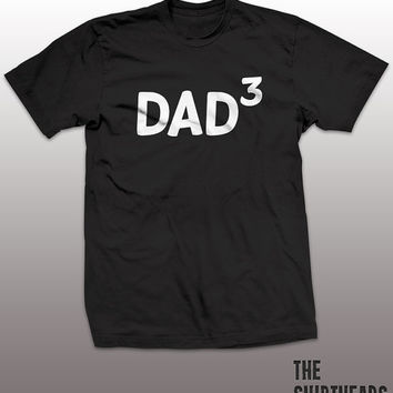 Dad 3 Shirt - funny t-shirt, mens gift, humor, tee, family tshirt, father day, three kids, children, daddy, baby, graphic, humor, triplets