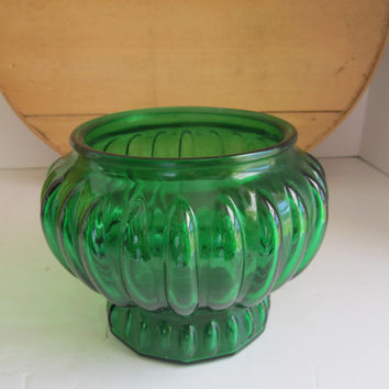 Emerald Green Glass Vase Green Wedding Vases Green Party Decor Inarco Green Glass Floral Vases 70s Florist Vase