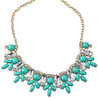 Multi Colors Flower Bib Necklace