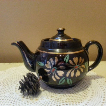 Ridgway Redware Teapot Little Brown Betty ALB Pottery Staffordshire England