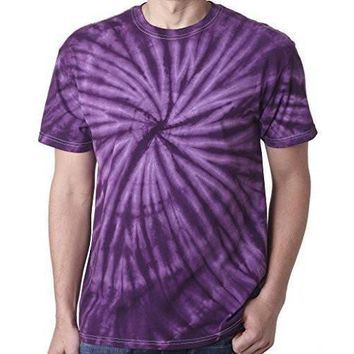 Yoga Clothing for You Mens Tie Dye Tee Shirt