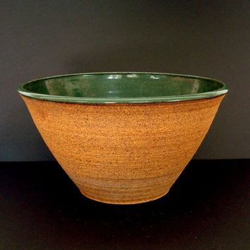 Ceramic bowl, extra large, punch bowl, fruit bowl, serving bowl, handmade, pottery bowl, green bowl