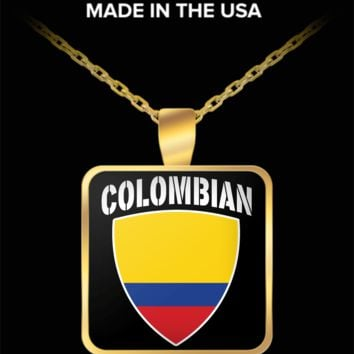 COLOMBIAN PRIDE GOLD PLATED NECKLACE